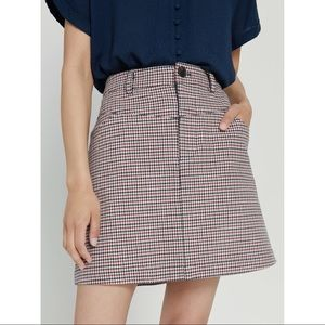 Frank & Oak | Good Cotton Houndstooth Mini Skirt
